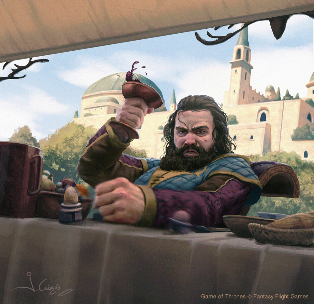 Robert Baratheon by Joshua Cairós for Game of Thrones © Fantasy Flight Games
